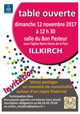 Affiche Table ouverte Illkirch 171112