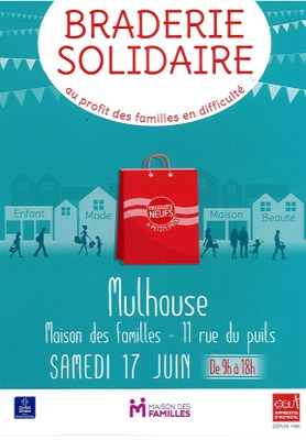 braderie solidaire Mulhouse juin 2017